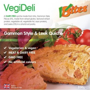 Meat-Free Gammon Style & Leek Quiche 208g